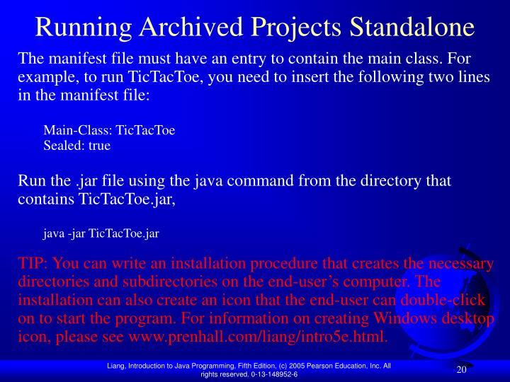 Running Archived Projects Standalone