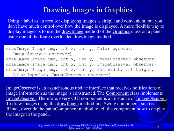 Drawing Images in Graphics