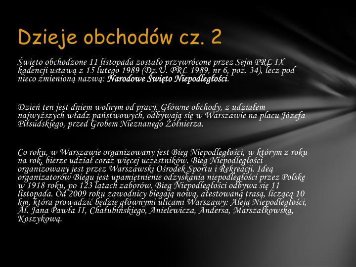 Dzieje obchodów cz. 2