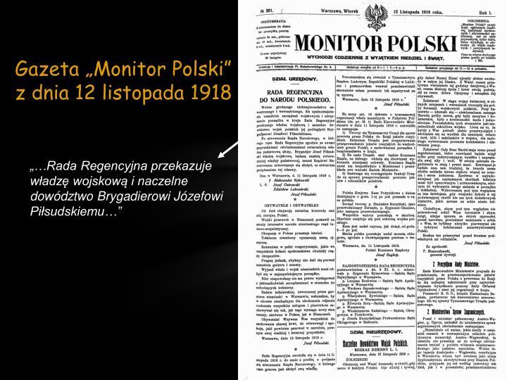 """Gazeta """"Monitor Polski"""""""