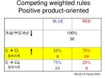 competing weighted rules positive product oriented