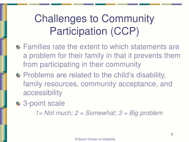 Challenges to Community Participation (CCP)