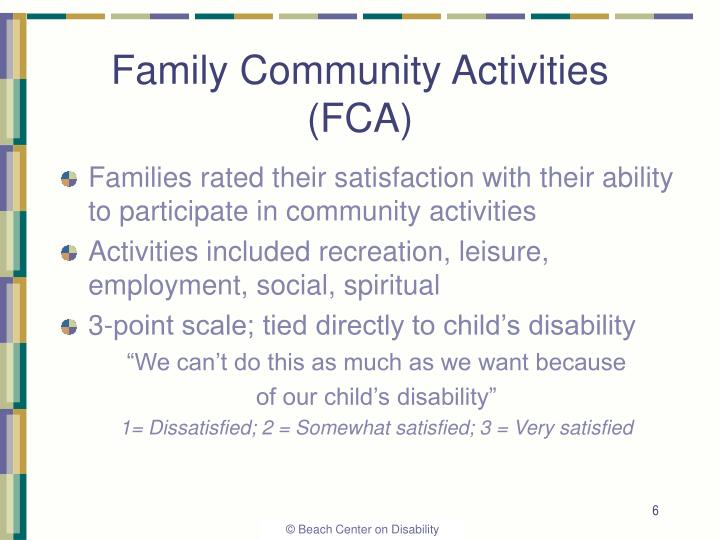 Family Community Activities (FCA)