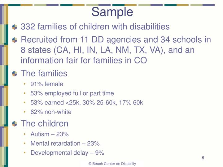 332 families of children with disabilities