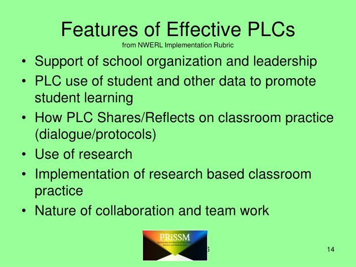 Features of Effective PLCs