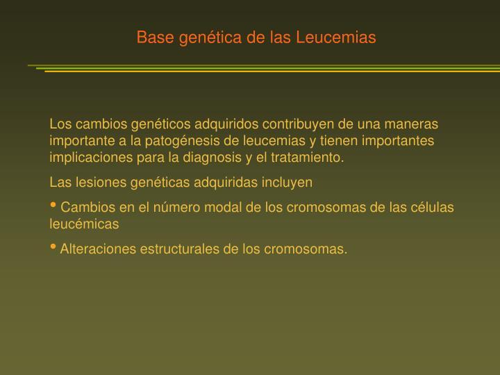 Base genética de las Leucemias