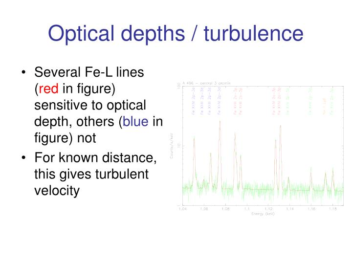 Optical depths / turbulence