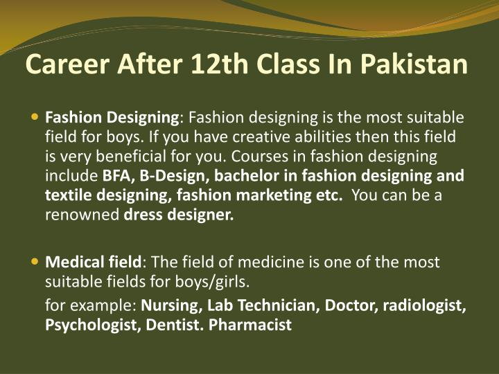 Career After 12th Class In Pakistan