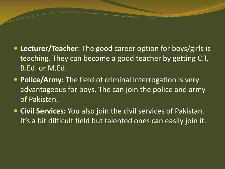 Lecturer/Teacher