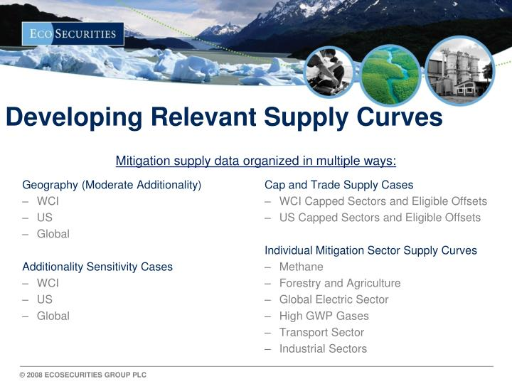 Developing Relevant Supply Curves
