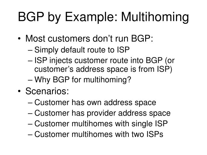 BGP by Example: Multihoming