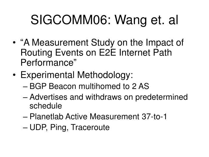 SIGCOMM06: Wang et. al