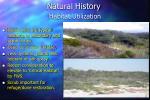 natural history habitat utilization1