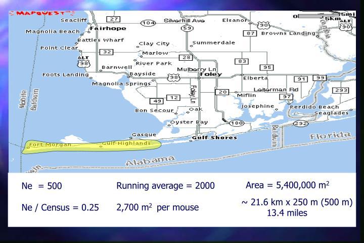 Area = 5,400,000 m