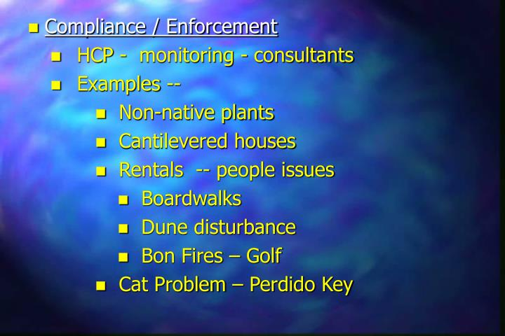 Compliance / Enforcement