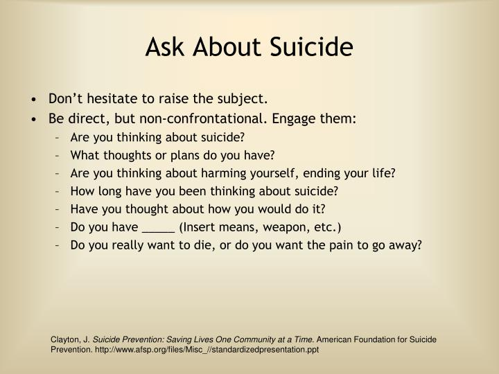 Ask About Suicide