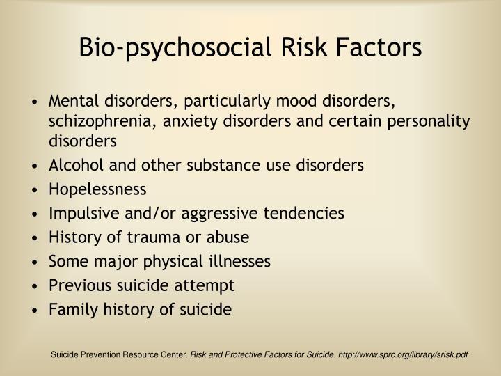 Bio-psychosocial Risk Factors