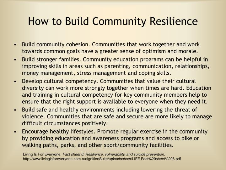 How to Build Community Resilience