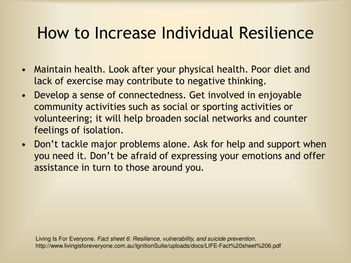 How to Increase Individual Resilience