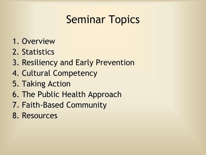 Seminar Topics