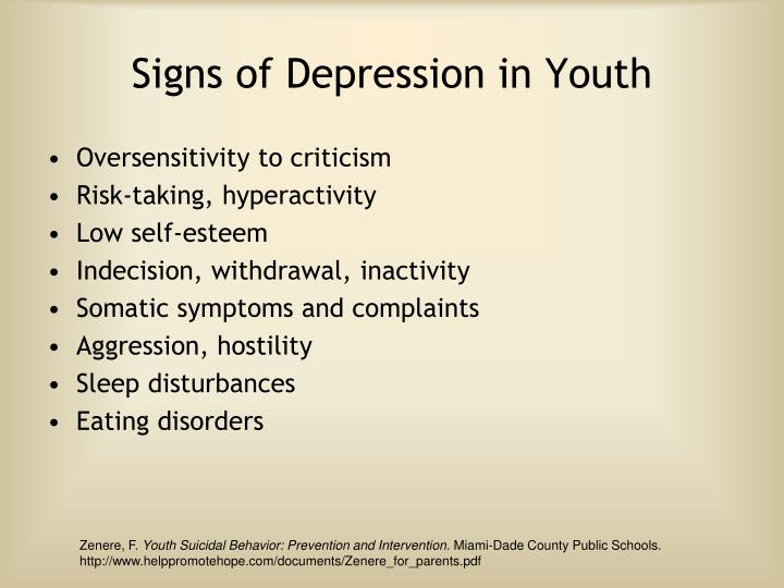 Signs of Depression in Youth