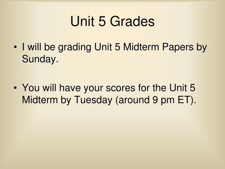Unit 5 Grades