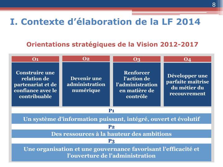 I. Contexte d'élaboration de la LF 2014