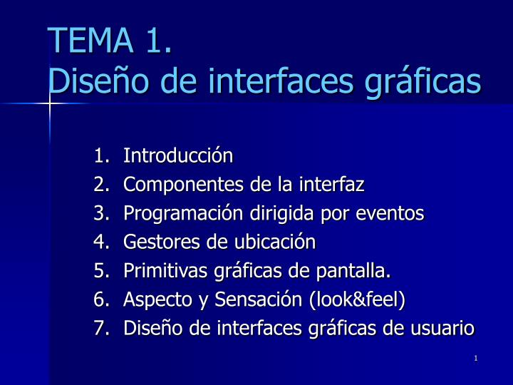 Tema 1 dise o de interfaces gr ficas