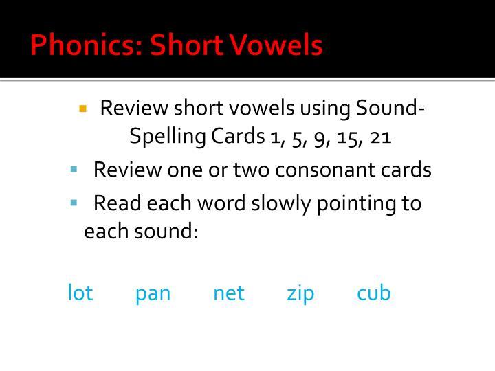 Phonics: Short Vowels