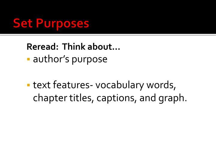 Set Purposes