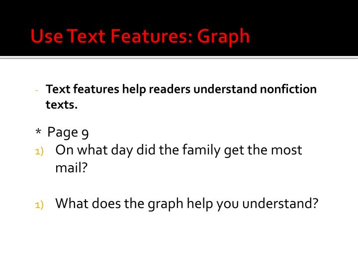 Use Text Features: Graph