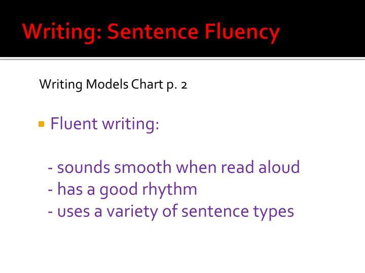 Writing: Sentence Fluency