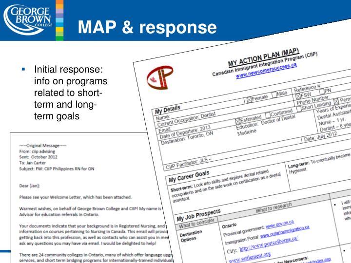 MAP & response