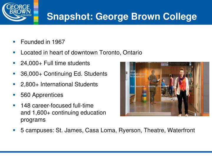Snapshot: George Brown College