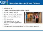 snapshot george brown college
