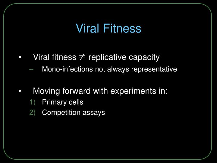 Viral Fitness