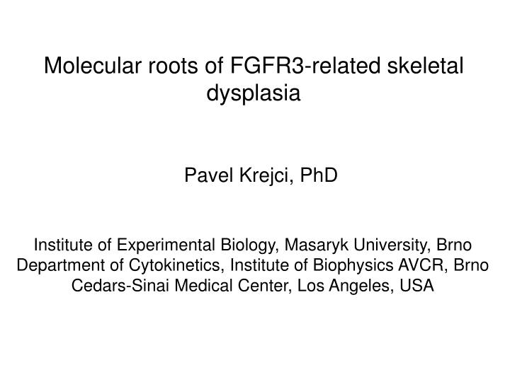Molecular roots of FGFR3-related skeletal dysplasia