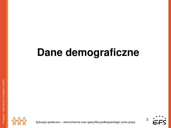 Dane demograficzne