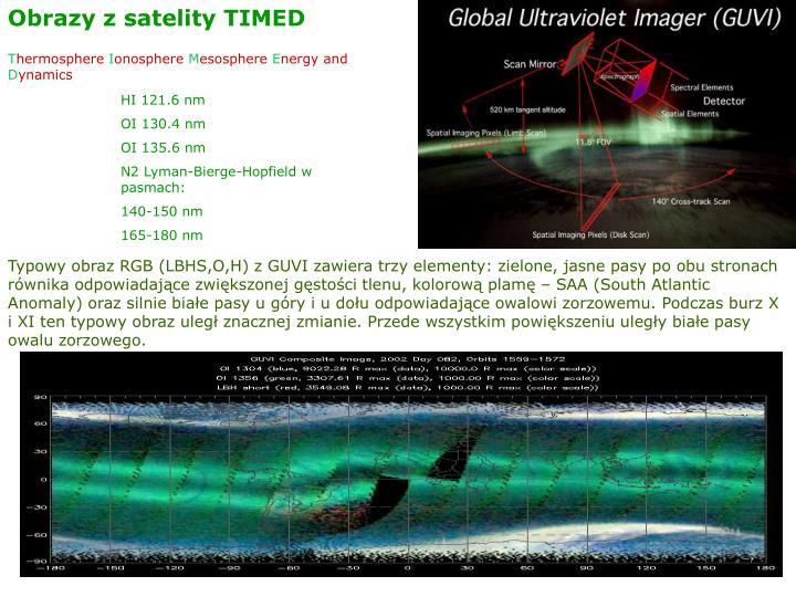 Obrazy z satelity TIMED