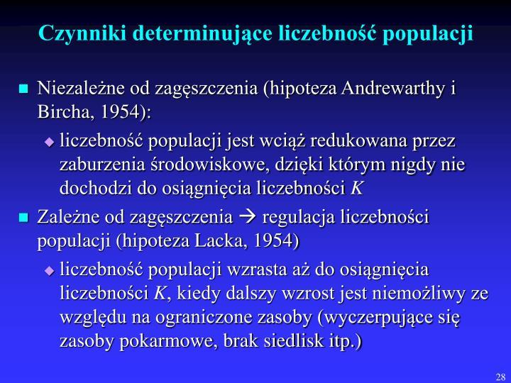 Czynniki determinujące liczebność populacji