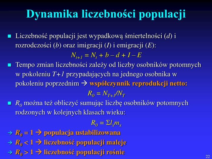 Dynamika liczebności populacji