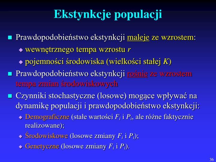 Ekstynkcje populacji