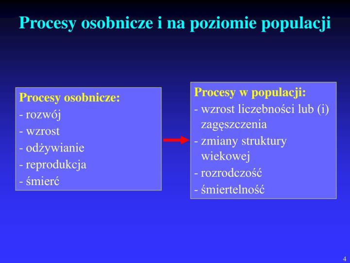 Procesy w populacji: