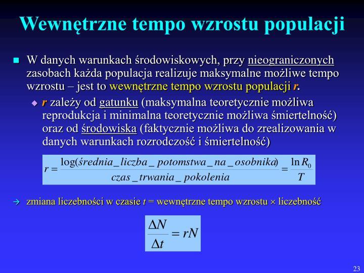 Wewnętrzne tempo wzrostu populacji
