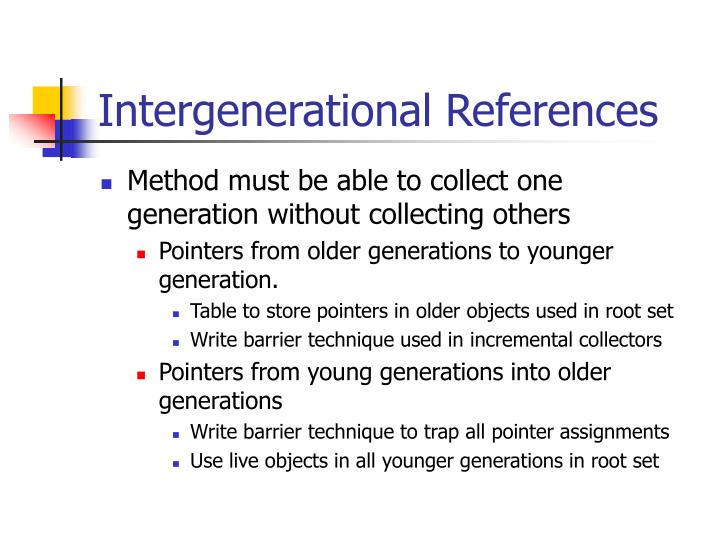 Intergenerational References