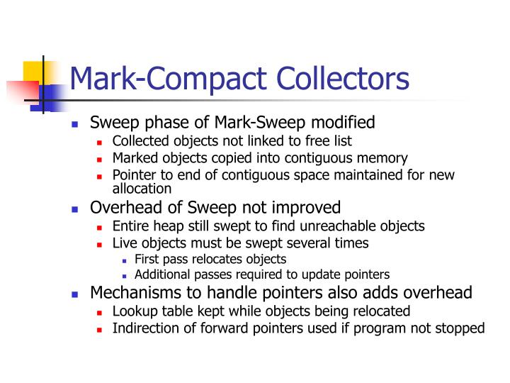 Mark-Compact Collectors