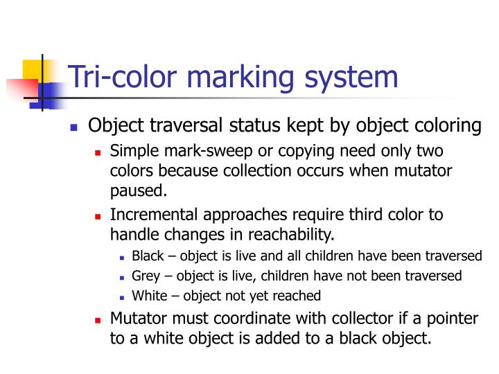 Tri-color marking system
