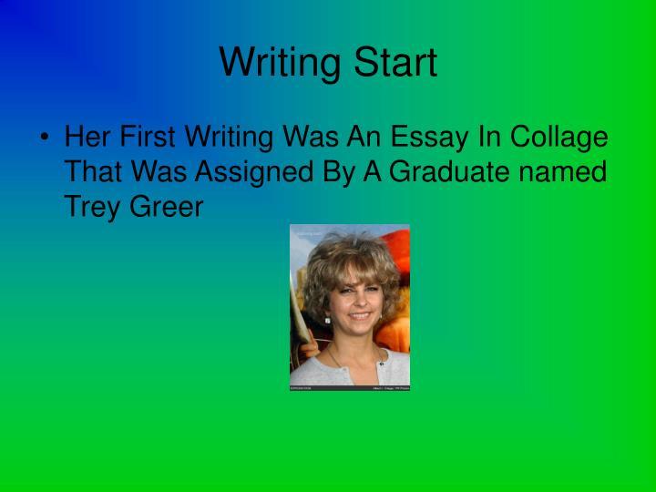 Writing Start