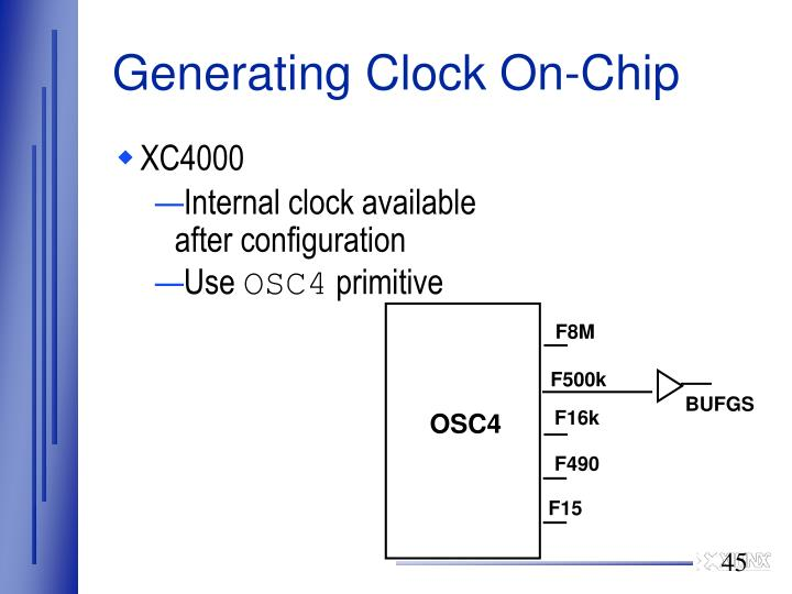 Generating Clock On-Chip