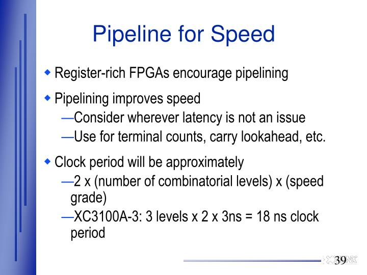 Pipeline for Speed
